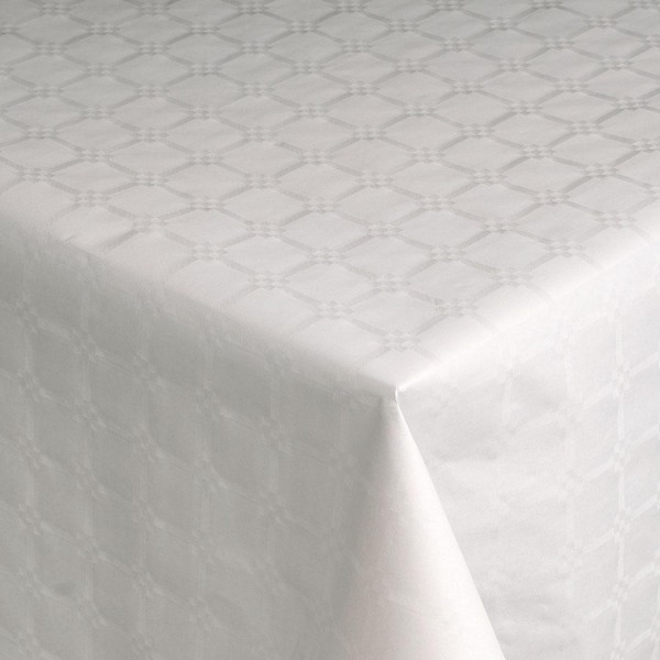 nappe papier damasse blanc rouleau 1 2x100ml atlantysse. Black Bedroom Furniture Sets. Home Design Ideas